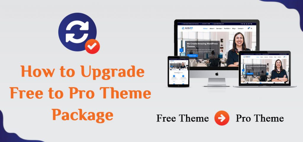 How to Upgrade Free to Pro Theme Package